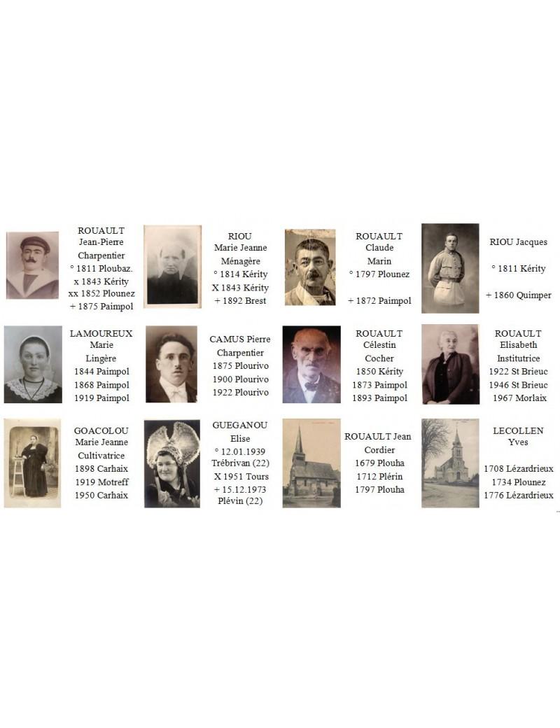 Génesquisse - Etiquettes mixtes texte & photos