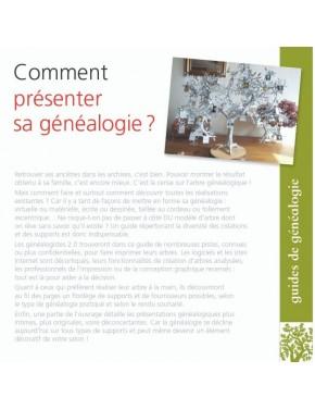 Comment présenter sa généalogie ?- 4ième de couverture