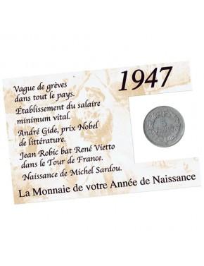 La monnaie de votre année de naissance - exemple pour 1947