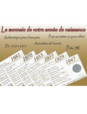 La monnaie de votre année de naissance (1929-2012)