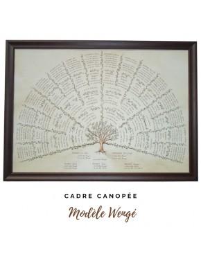 """Encadrement Canopée - modèle """"Wengé"""""""