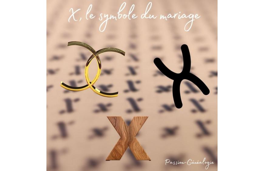 Pourquoi le X est-il le symbole généalogique du mariage ?
